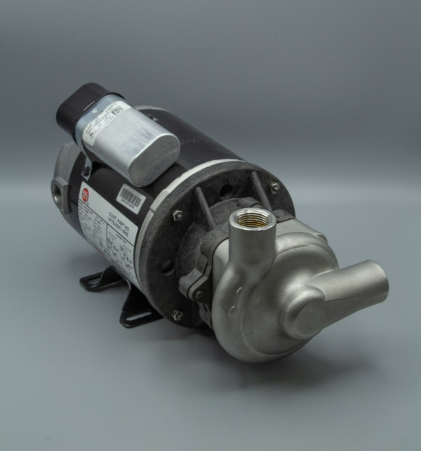 March Pump's 830-SS-T centrifugal sealless magnetic drive bronze pumps ideal for hot water applications.