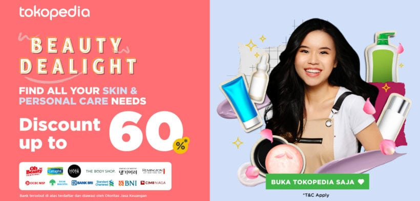 Tokopedia Beauty Dealight, a Campaign to Support Local Beauty Products