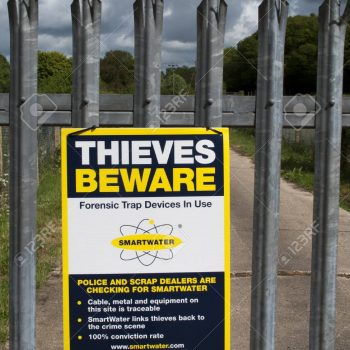 Forensic trap sign SmartWater