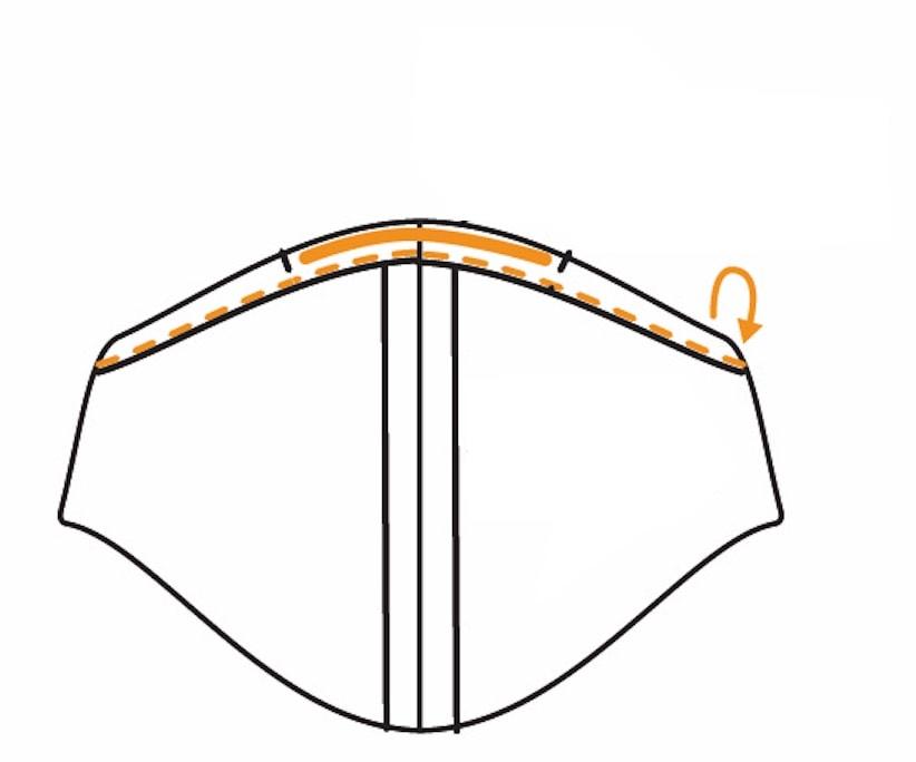 Behelfsmaske Filter