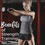 female runner strengthening exercise with kettle bell