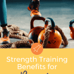 female runner shoes with exercise strength equipment
