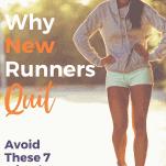 tired female runner walking