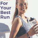 female runner water bottle