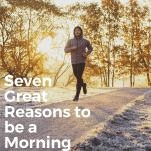 runner at morning dawn in winter