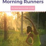 female morning runner at dawn