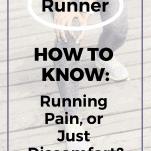 running pain or discomfort woman runner holding knee