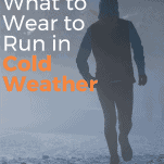 man runner in snow and cold weather