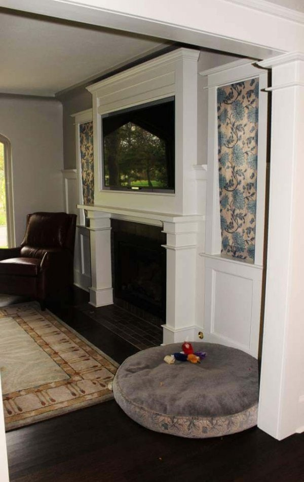 Denver Whole House Remodel Custom Fireplace