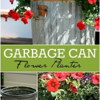 Trash to Treasure – Garbage Can Flower Planter DIY