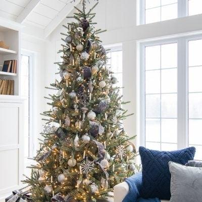 Grey and Silver Christmas Tree
