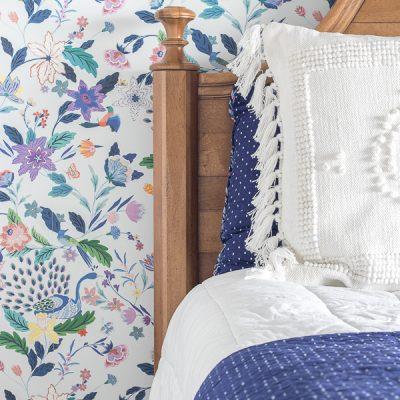 Tween Girl Floral Wallpaper Bedroom Progress