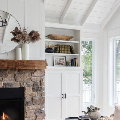 Neutral Fall Fireplace Mantel