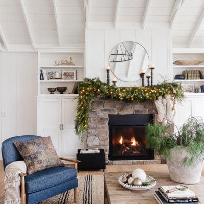 Fireplace Mantel Christmas Garland