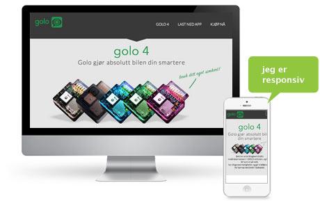 Golo norge - Nettside