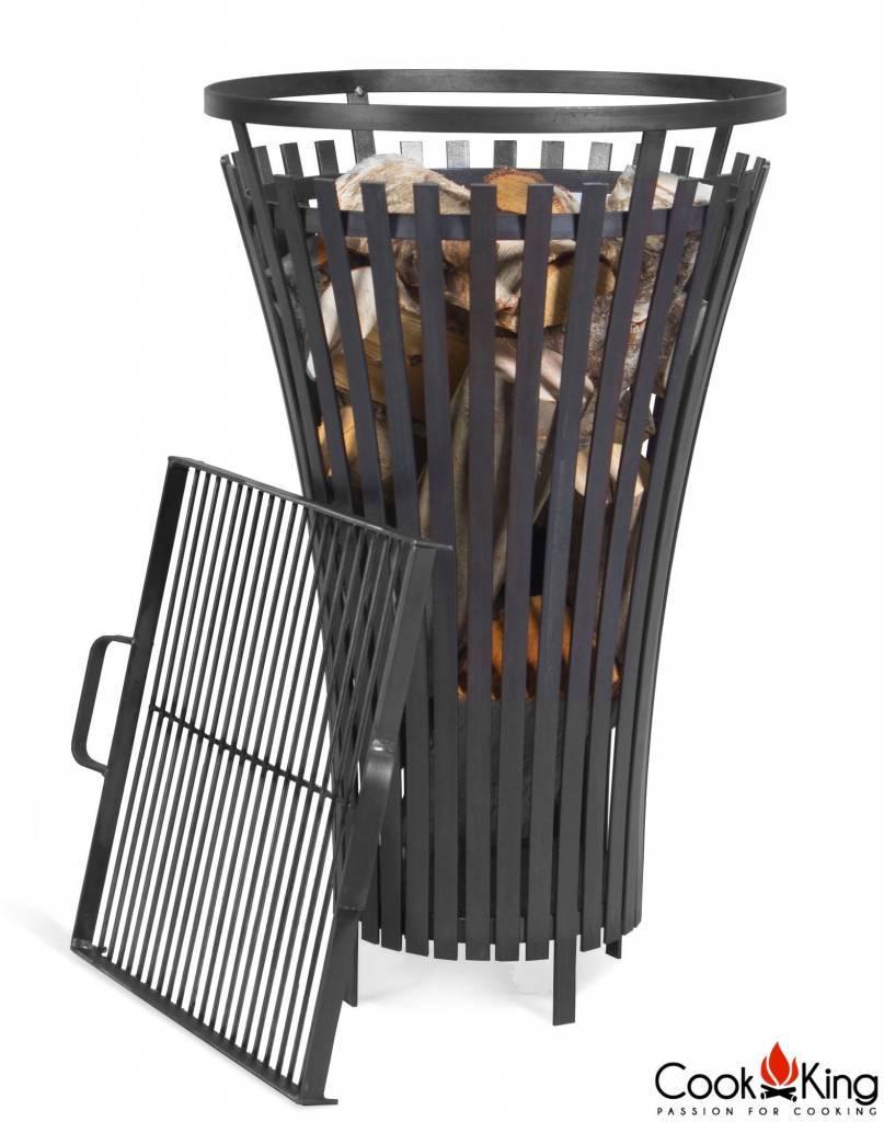 Cookking vuurkorf Flame + grillrooster black steel (set)