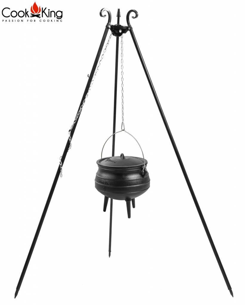 Statief recht 180cm met Afrikaanse kookpot met emaille binnenzijde (set) – Recht statief 180cm + Afrikaanse kookpot met emaille binnenzijde 13 Liter