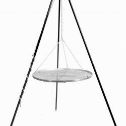 Driepoot 180 cm met RVS grillrooster – Driepoot 180 cm met RVS grillrooster 50 cm