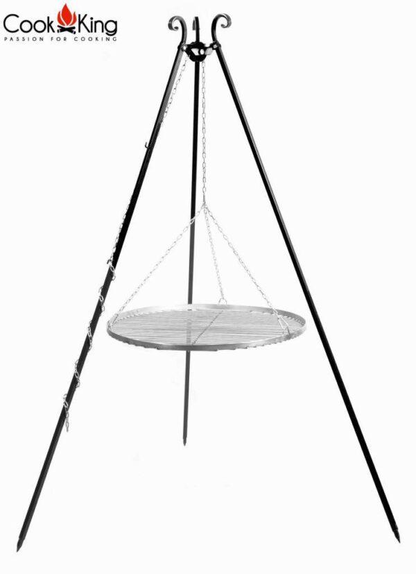 Driepoot 180 cm met RVS grillrooster – Driepoot 180 cm met RVS grillrooster 70 cm