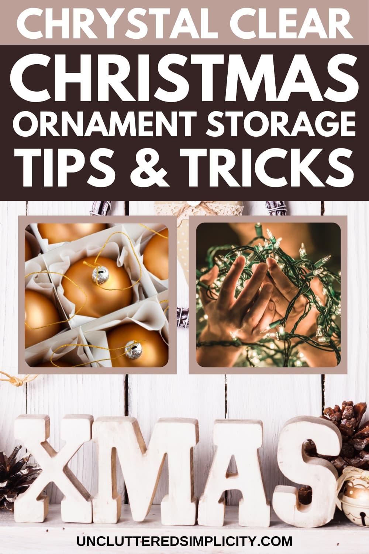 Pin Christmas ornament storage