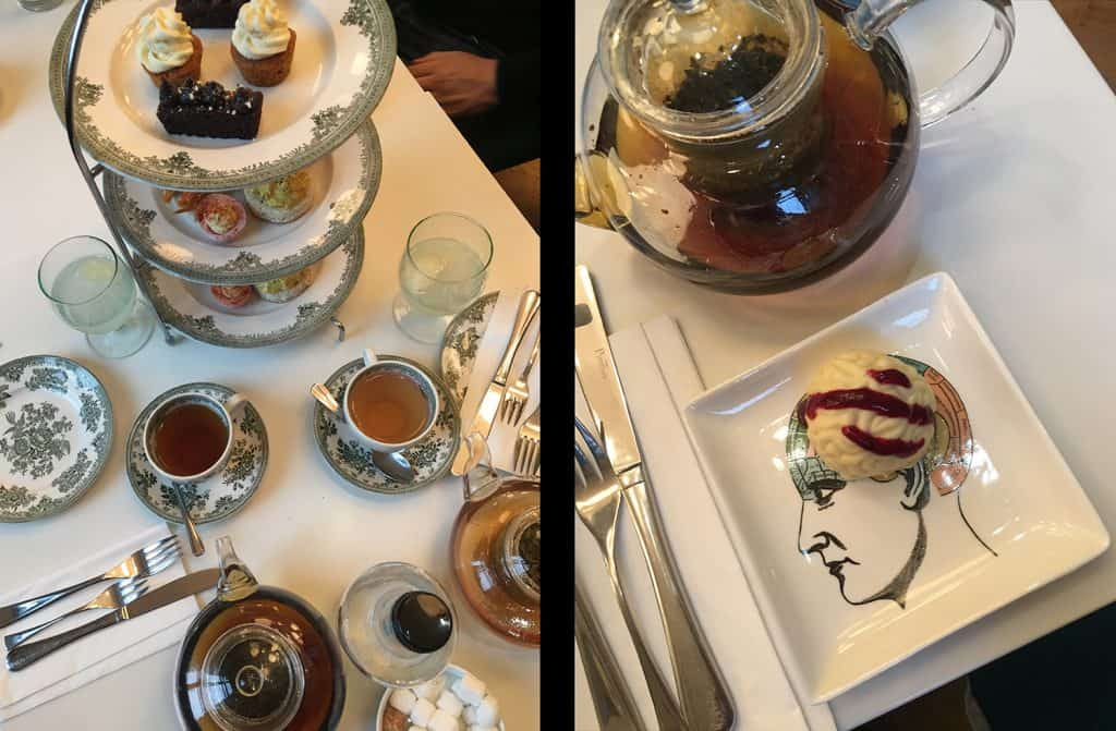 Themed afternoon tea at the Wellcome Collection