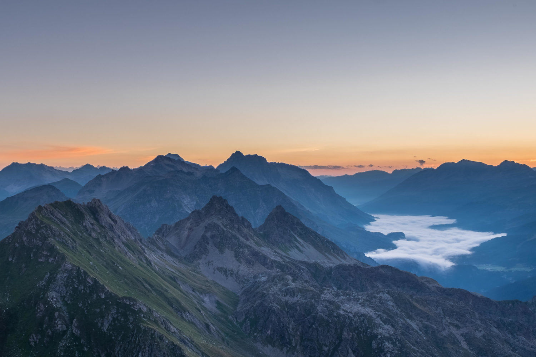 Berge im Morgengrauen