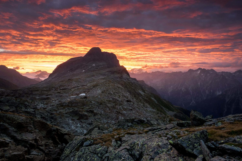 Sonnenaufgang am Piz Duan