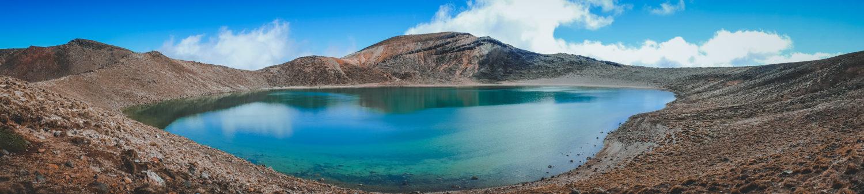 Panoramaaufnahme des Blue Lake