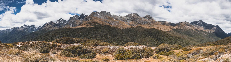 Panorama der Bergkette am Key Summit Trail