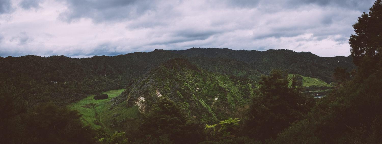 Blick vom Atene Viewpoint auf die umliegende Waldlandschaft