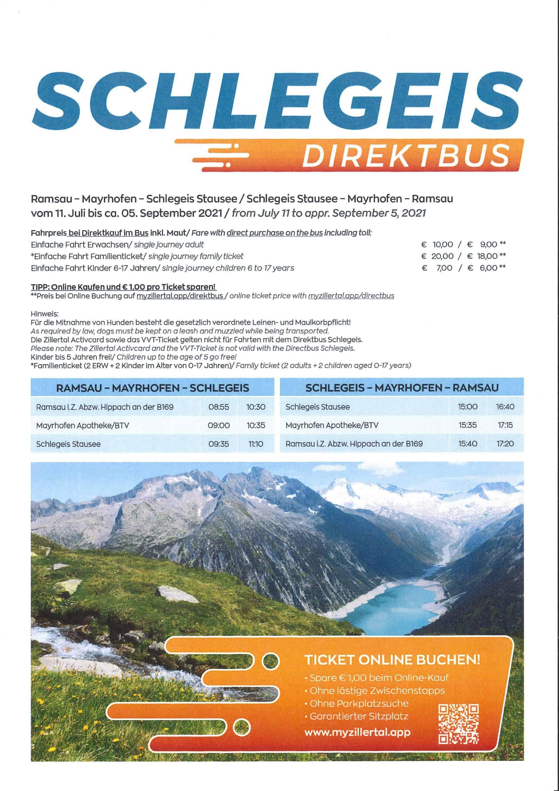 Schlegeis-Direktbus