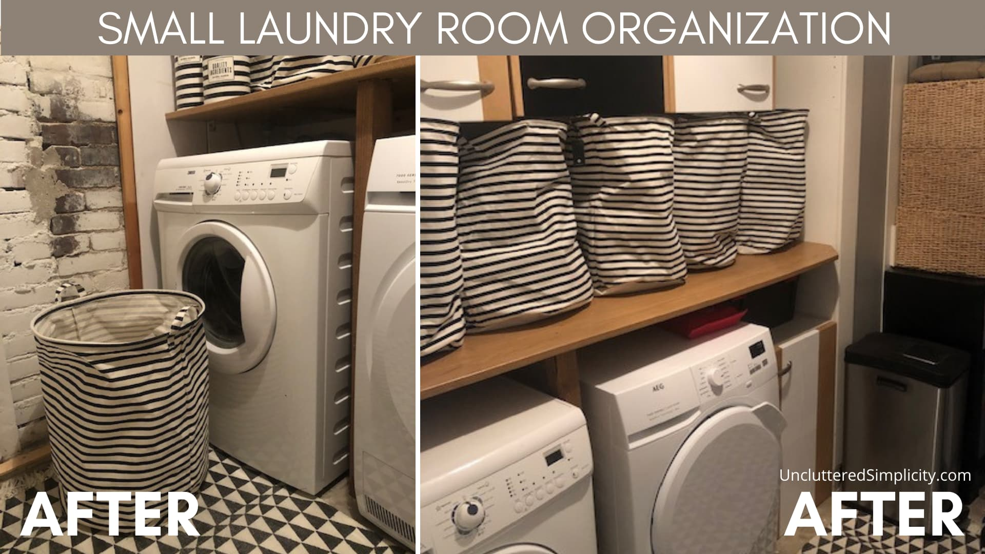 small laundry room organization ideas - after