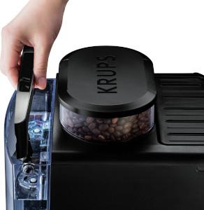 Cafetiere A Grains Krups Ea815070 réservoir d'eau d'une contenance de 1,7L et 260 grammes de bac à grains