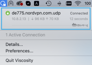 How to install Viscosity - Disconnect