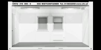 CHV300.48 16 fuß Bürocontainer 4,8m Seitlich