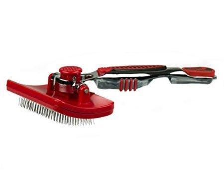 Shepadoodle grooming brush