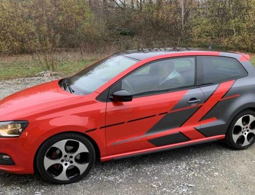 VW Polo rotgrau