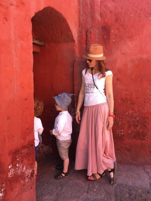 Monasterio Santa Catalina. Arequipa is called the white city, but that doesn't apply in here!
