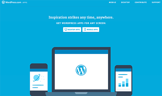 wordpress apps - نحوه ی استفاده از برنامه وردپرس بر روی iPhone ،iPad و Android