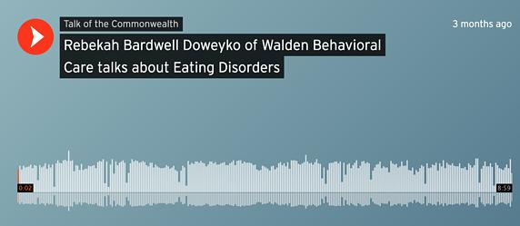 Rebekah Bardwell Discusses Eating Disorders