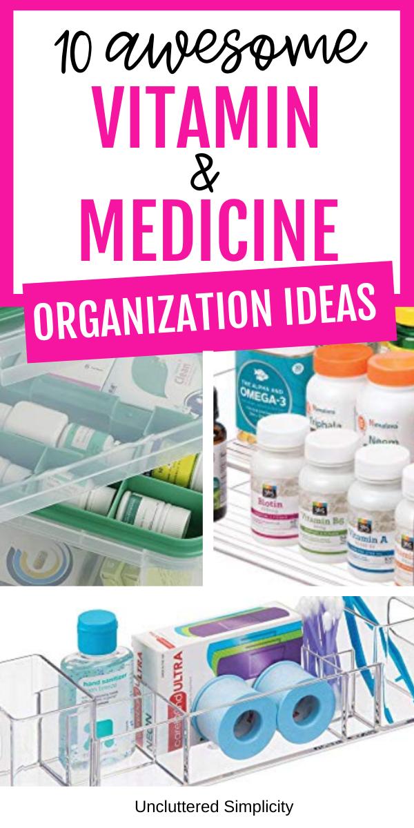 medicine organization ideas