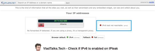 Disable IPv6 on Mac - Check IPv6 on IPleak