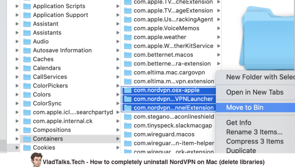 How to completely uninstall NordVPN on Mac - Delete libraries