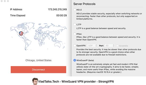 StrongVPN - WireGuard protocol