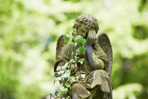 uk graveyard at a funeral