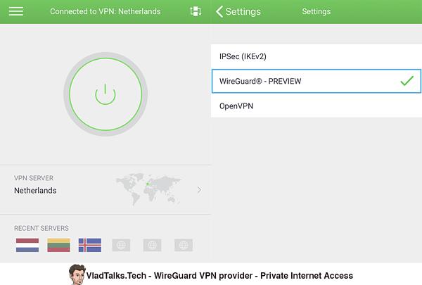 WireGuard VPN provider - PIA (Private Internet Access)
