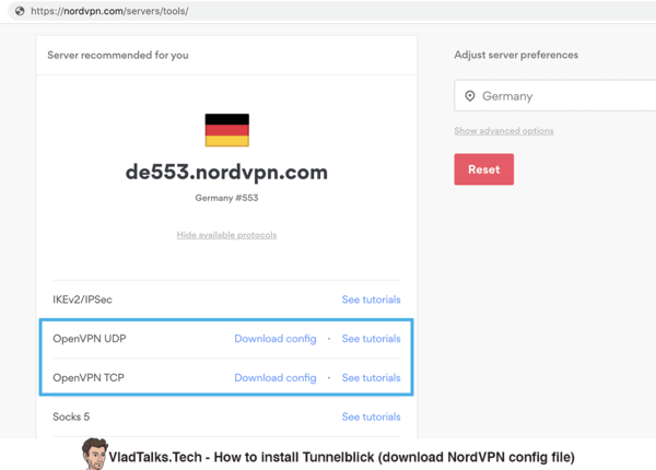 How to install Tunnelblick - download NordVPN config files