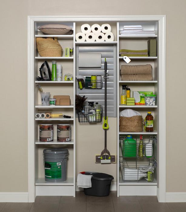 Small Utility Closet Organizing Ideas - example Houzz