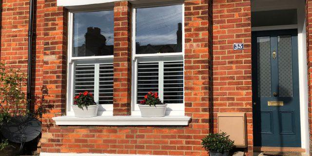 Front of Edwardian house with double glazing, double glazing brighton