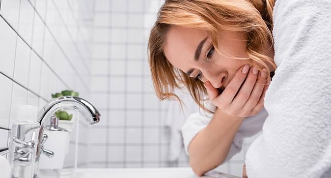 nausea due to metallic water